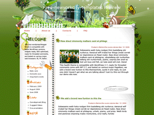 Яркая WordPress тема Gardens-amidst-jungle