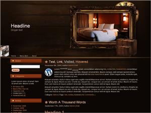 Вордпресс тема отдых Hotel-room