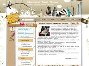 Wordpress шаблон на тему туризма International-Travel