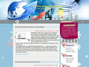 Шаблон бизнес в интернет Online-Marketing