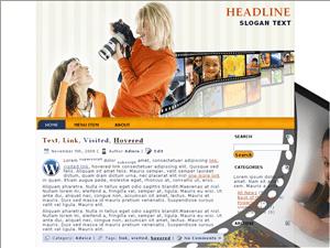 Wordpress шаблон фотография Photo-studio