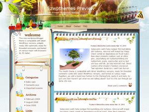 Wordpress шаблон о природе Sci-nature-Flash