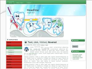 Шаблон для Вордпресс стоматология Teeth-protect-website
