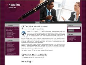 Бизнес шаблон Вордпресс Business-accounting