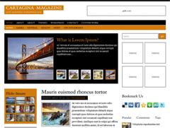 Современный шаблон Вордпресс CartaginaMagazine