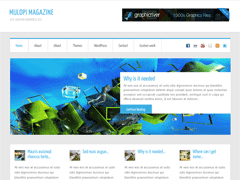 Современный шаблон WordPress MulopiMagazine
