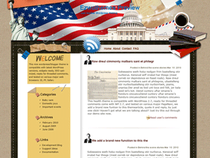 Wordpress тема виджеты Star-Spangled-Banner