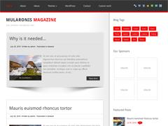 Современный шаблон Вордпресс MularonisMagazine