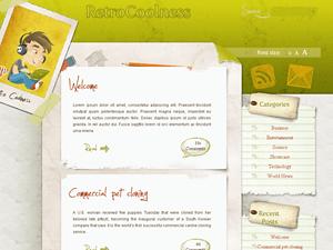 Яркая WordPress тема Coolretro