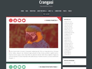 Простой шаблон Вордпресс Crangasi