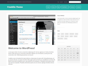 Бизнес шаблон WordPress Franklin