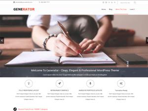 Современная тема WordPress Generator