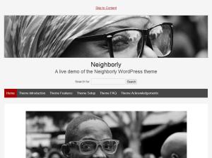 Шаблон Вордпресс минимализм Neighborly