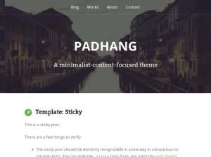 Современный шаблон Вордпресс Padhang