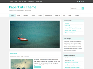Wordpress тема минимализм Papercuts