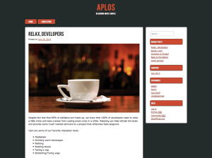 Wordpress тема блог Aplos