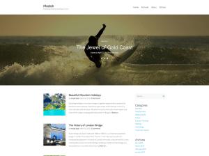 Светлая WordPress тема Modish