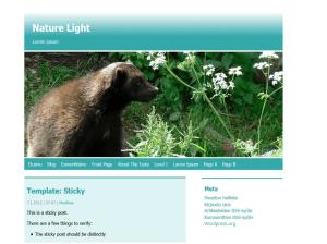 Светлая Вордпресс тема Nature-light