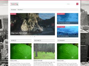 Стильный шаблон WordPress Newsmag