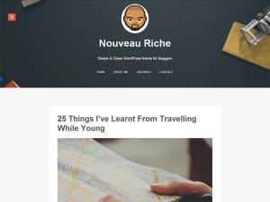 Современная тема WordPress Nouveau-riche