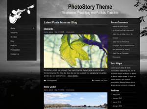 Шаблон Вордпресс фотография Photostory
