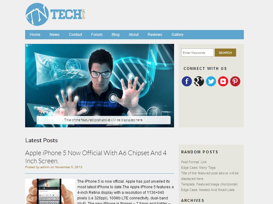 Техно шаблон для Вордпресс Technews