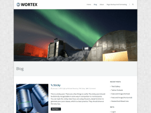 Wordpress шаблон виджеты Wortex-lite