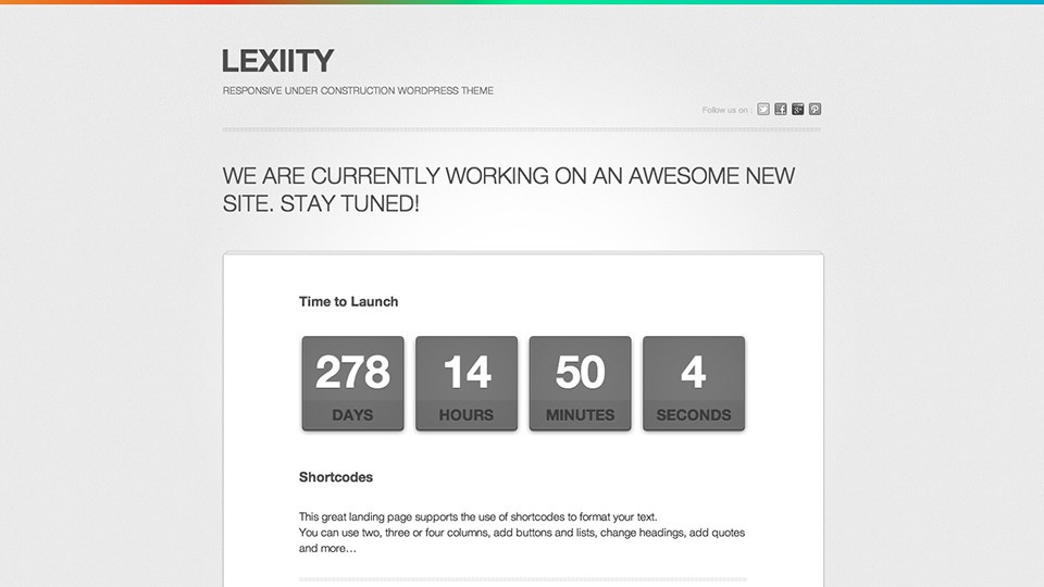 шаблон Lexiity-wordpress-theme