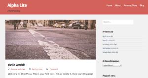 Простая тема WordPress Alpha-lite