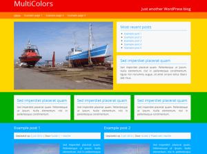 Яркая Вордпресс тема Multicolors
