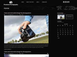 Темный шаблон Вордпресс Premium-photography