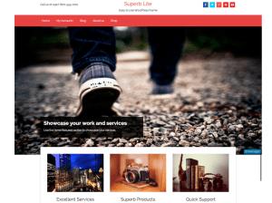Стильный шаблон WordPress Superb-lite