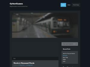 Простая Вордпресс тема Cybergames
