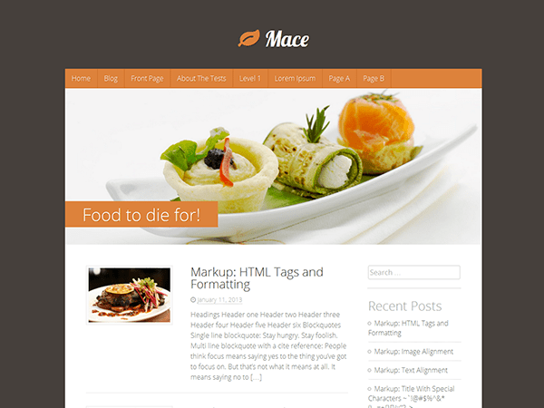 Кулинарная WordPress тема Mace