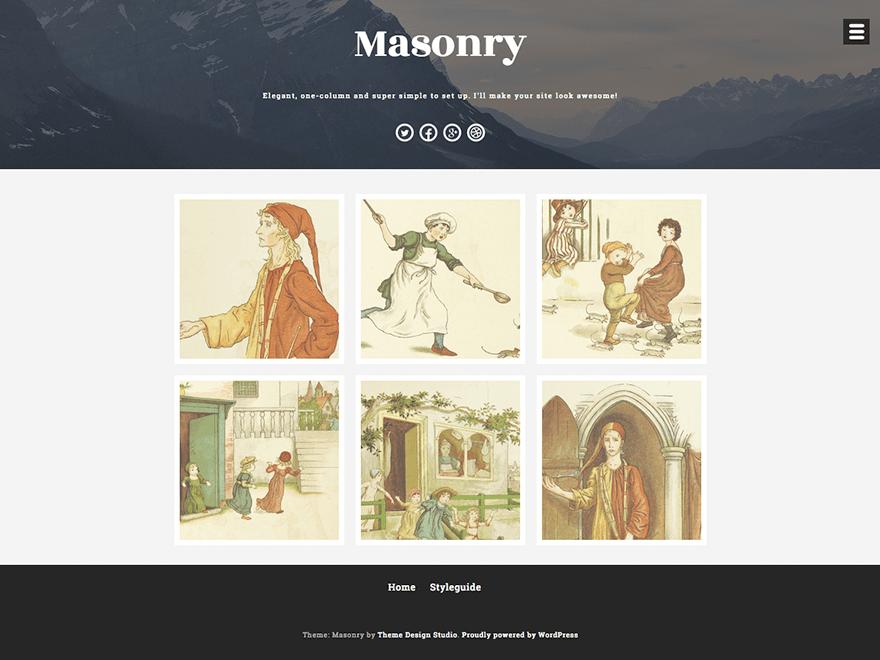 Стильный шаблон Вордпресс Masonry