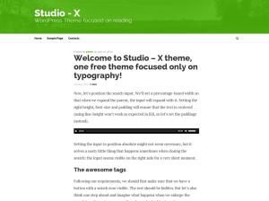 Простой шаблон Вордпресс Studio-x