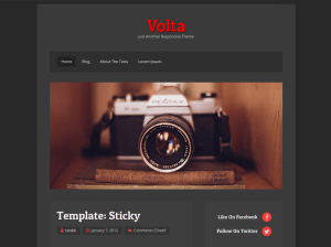 Вордпресс шаблон фотография Volta