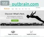 outbrain.com - 113 место. Трафик: 9,6 млн в день. Шаблон: outbrain-2014. Тематика: исследовательская платформа