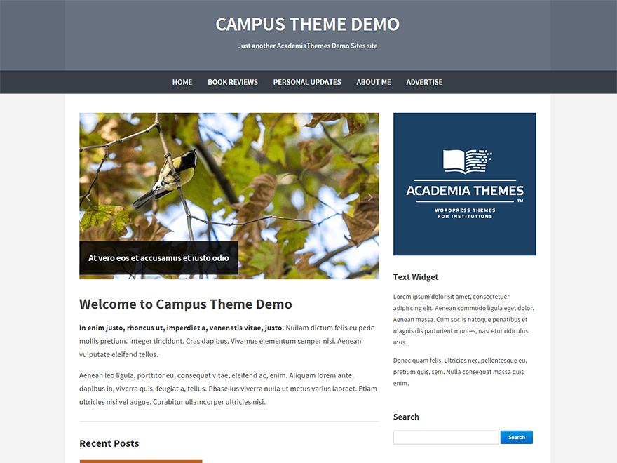Универсальная Вордпресс тема Campus