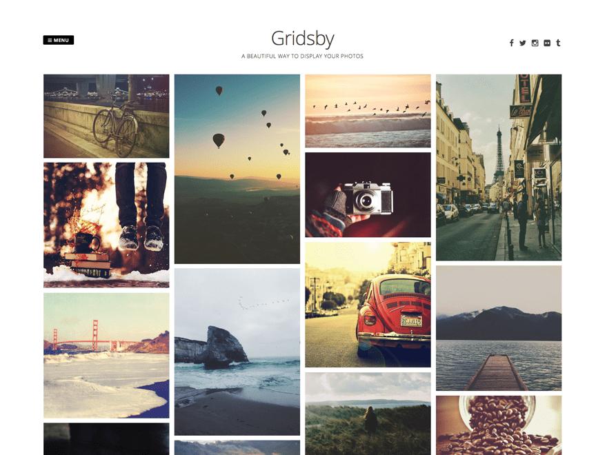 Оригинальный шаблон WordPress Gridsby