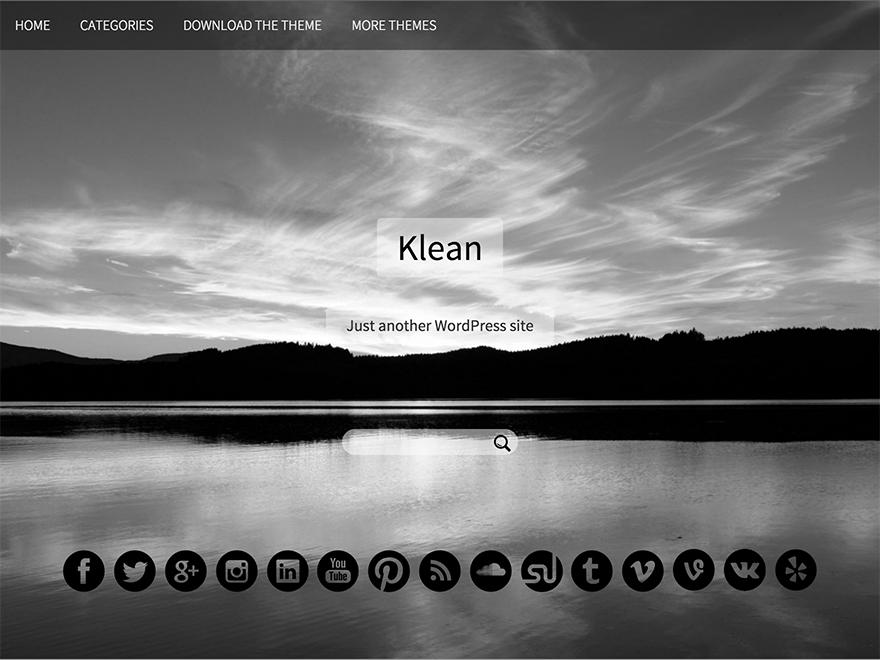Вордпресс тема минимализм Klean