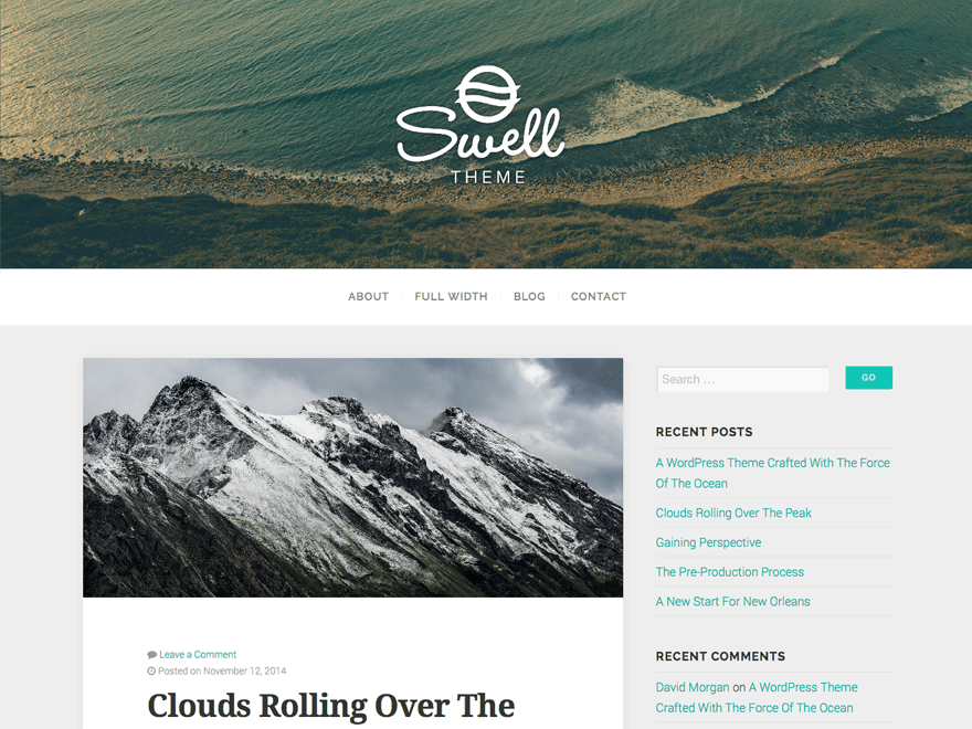 Wordpress тема блог Swell-lite