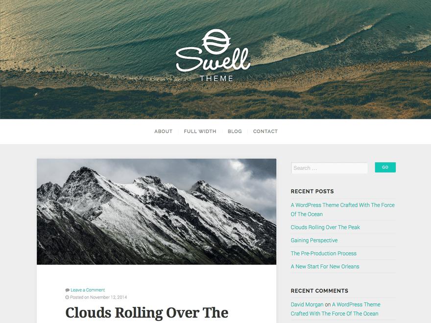 Wordpress тема блог Swell-lite