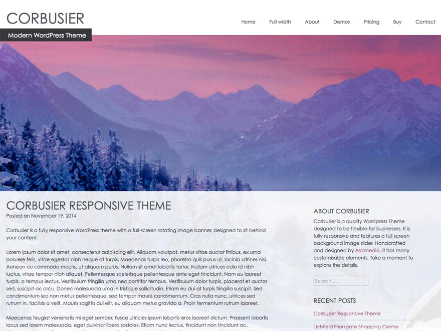 Wordpress тема виджеты Corbusier