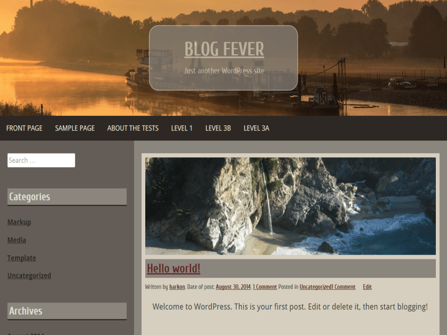 Яркий Вордпресс шаблон Blog-fever