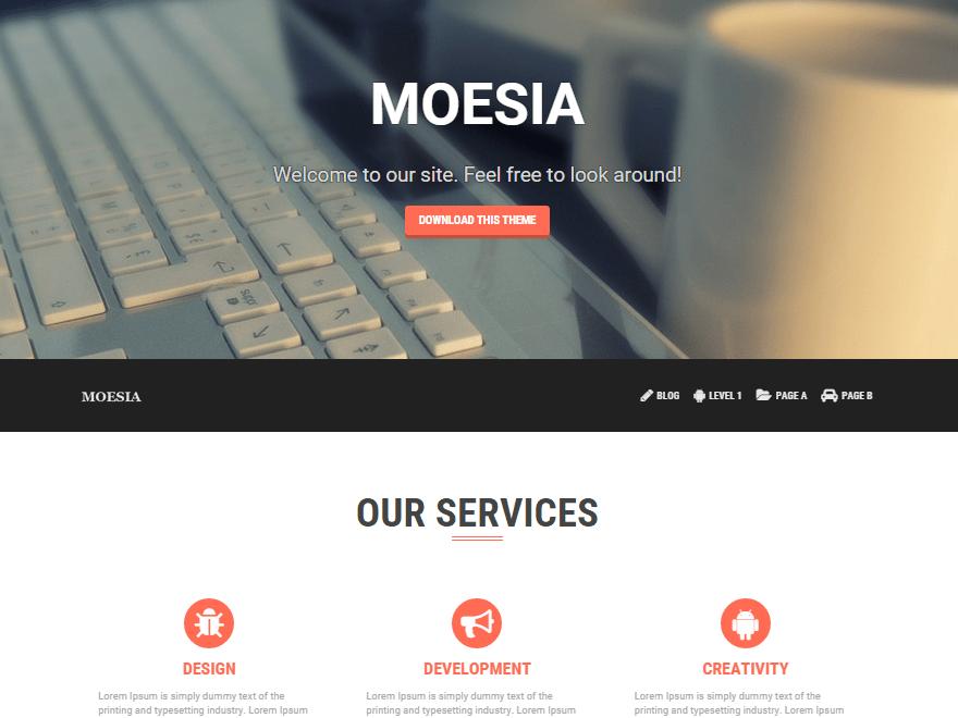 Современная Ворд пресс тема Moesia