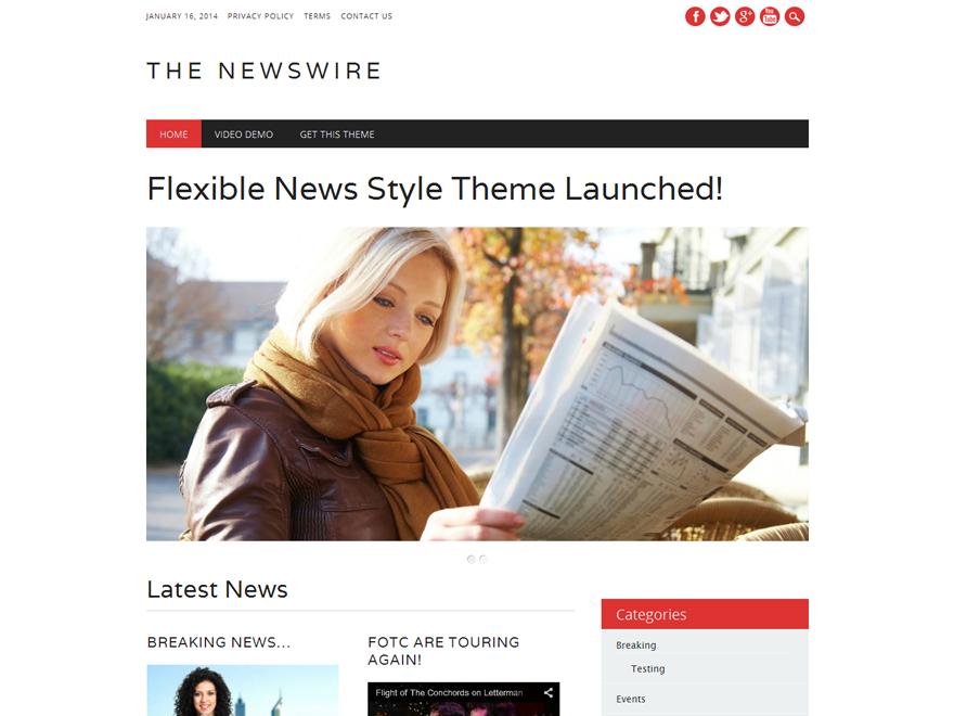Новостной шаблон Вордпресс Newswire