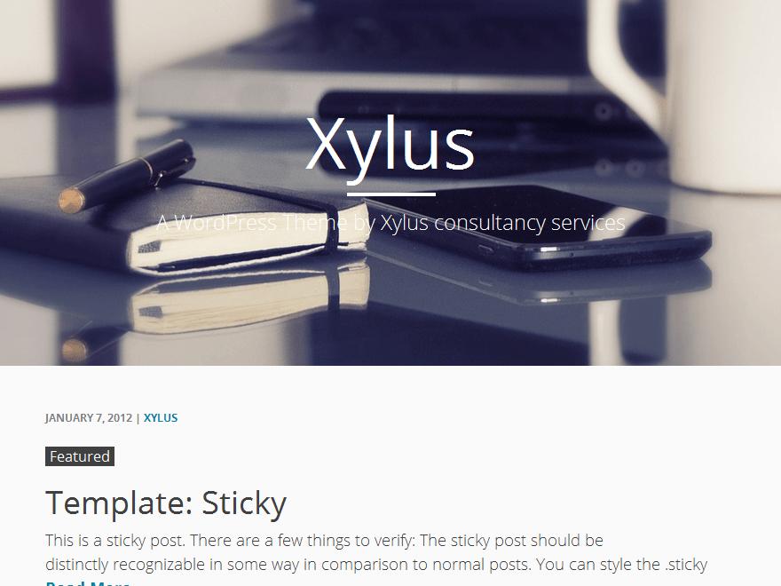 Стильный шаблон Вордпресс Xylus