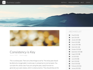 Бизнес шаблон Вордпресс Business-leader