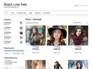 Wordpress тема онлайн-магазин Black-line